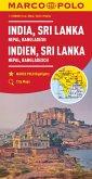 MARCO POLO Kontinentalkarte Indien, Sri Lanka 1:2 500 000; India Sri, Lanka