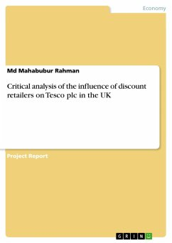 Critical analysis of the influence of discount retailers on Tesco plc in the UK