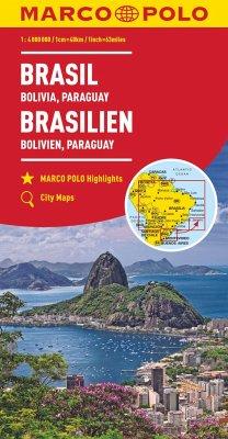 MARCO POLO Kontinentalkarte Brasilien, Bolivien, Paraguay 1:4 000 000