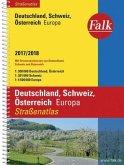 Falk Straßenatlas Deutschland, Österreich, Schweiz, Europa 2017/2018 1 : 300 000