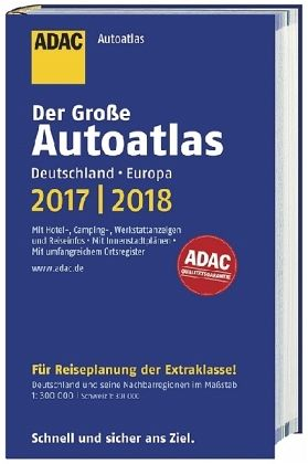 gro er adac autoatlas 2017 2018 deutschland 1 300 000. Black Bedroom Furniture Sets. Home Design Ideas