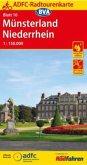 ADFC-Radtourenkarte 10 Münsterland, Niederrhein