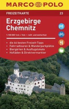 MARCO POLO Freizeitkarte Erzgebirge, Chemnitz