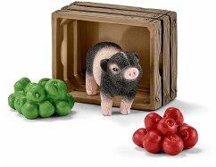 Schleich 42292 - Mini Schwein mit Äpfeln, mehrf...