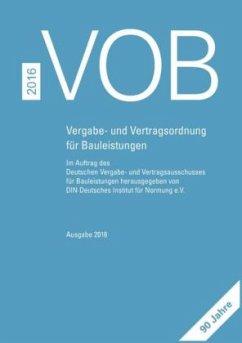 9783410612933 - Herausgegeben von DIN e.V.: VOB 2016 Gesamtausgabe - Buch