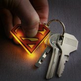 Superman Schlüsselanhänger mit Taschenlampe