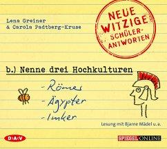 Nenne drei Hochkulturen: Römer, Ägypter, Imker, 1 Audio-CD - Greiner, Lena;Padtberg-Kruse, Carola