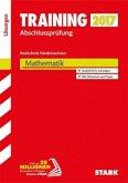 Training Abschlussprüfung Realschule Niedersachsen 2017- Mathematik Lösungsheft