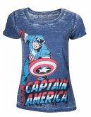 Marvel T-Shirt -L- Captain America, blau