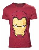 Marvel T-Shirt -L- Iron Man Kopf, rot