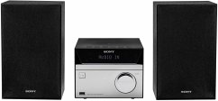 Sony CMT-SBT20 Micro-Systemanlage (Kompakte Design, CD, FM-Tuner, RDS, USB-Eingang, Bluetooth) silber
