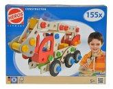 Heros 100039085 - Constructor 155-teilig, Feuerwehrauto, Holz-Konstruktions-Set