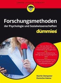 Forschungsmethoden der Psychologie und Sozialwissenschaften für Dummies - Dempster, Martin; Hanna, Donncha