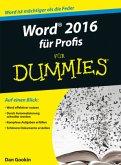 Word 2016 für Profis für Dummies