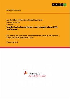 Vergleich des koreanischen- und europäischen INTEL Verfahrens (eBook, PDF)