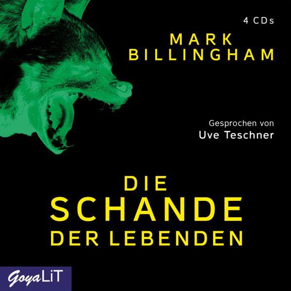 Die Schande der Lebenden, 4 Audio-CDs - Billingham, Mark