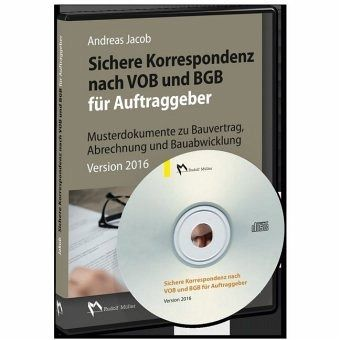 sichere korrespondenz nach vob und bgb f r auftraggeber 1 cd rom software. Black Bedroom Furniture Sets. Home Design Ideas