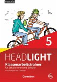 English G Headlight Band 5: 9. Schuljahr - Klassenarbeitstrainer mit Lösungen und Audios online