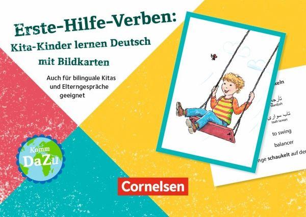erste hilfe verben kita kinder lernen deutsch mit bildkarten schulbuch b. Black Bedroom Furniture Sets. Home Design Ideas