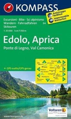 Kompass Karte Edolo, Aprica