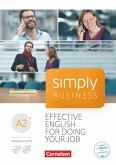 Simply Business A2+ - Coursebook mit Audio-CD und Video-DVD
