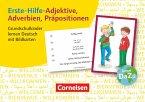 Erste-Hilfe-Adjektive, Adverbien, Präpositionen. Grundschulkinder lernen Deutsch mit Bildkarten