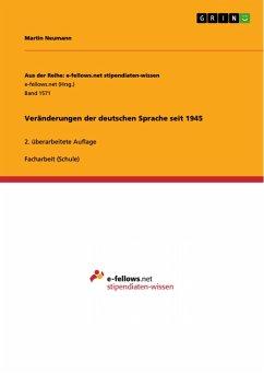 Veränderungen der deutschen Sprache seit 1945 (eBook, PDF)