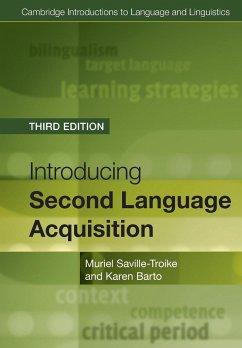 Introducing Second Language Acquisition - Saville-Troike, Muriel; Barto, Karen