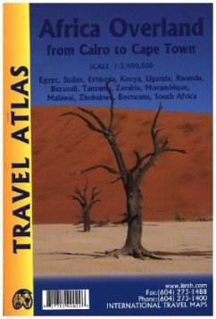 ITM Travel Atlas Africa Overland: Cairo to Cape Town Travel Atlas