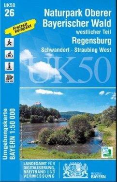Topographische Karte Bayern Naturpark Oberer Ba...