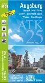 Amtliche Topographische Karte Bayern Augsburg