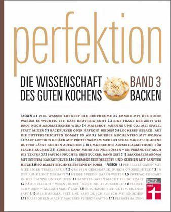 Backen / Perfektion. Die Wissenschaft des guten Kochens Bd.3 - Buch ...