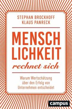 Menschlichkeit rechnet sich (eBook, PDF) - Panreck, Klaus; Brockhoff, Stephan