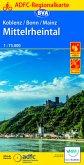 ADFC-Regionalkarte Koblenz/Bonn/Mainz Mittelrheintal 1:75.000, reiß- und wetterfest, mit GPS-Tracks-Download