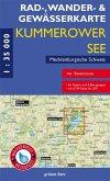 Rad-, Wander- und Gewässerkarte Kummerower See, Mecklenburgische Schweiz