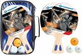 Donic-Schildkröt 788602 - Tischtennis Set Hobby für 2 Spieler, 2 Schläger, 3 Bälle, Tasche