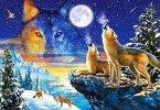 Heulende Wölfe (Puzzle)