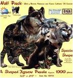Wolfsrudel (Konturenpuzzle)