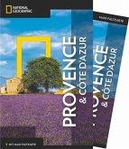 National Geographic Traveler Provence und Côte d'Azur mit Maxi-Faltkarte