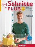 Medienpaket, 5 Audio-CDs und 1 DVD zum Kursbuch / Schritte plus Neu - Deutsch als Fremdsprache / Deutsch als Zweitsprache Bd.3+4