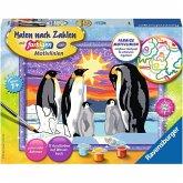 Ravensburger 28344 - Malen nach Zahlen, Pinguinfamilie, Malset