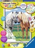Ravensburger 28566 - Malen nach Zahlen, Glückliche Pferde, Malset