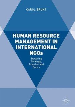 Human Resource Management in International NGOs - Brunt, Carol