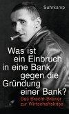 """""""Was ist ein Einbruch in eine Bank gegen die Gründung einer Bank?"""" (eBook, ePUB)"""
