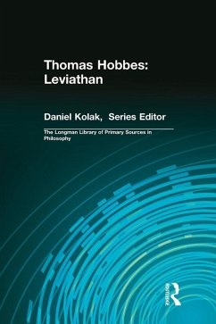 Thomas Hobbes: Leviathan (Longman Library of Primary Sources in Philosophy) (eBook, ePUB) - Hobbes, Thomas