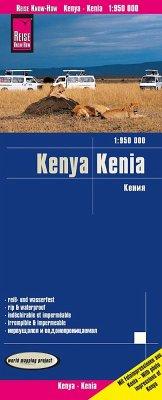 Reise Know-How Landkarte Kenia (1:950.000); Kenya