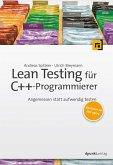 Lean Testing für C++-Programmierer (eBook, ePUB)