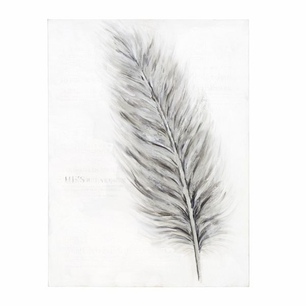 miavilla bild feather wei grau portofrei bei b. Black Bedroom Furniture Sets. Home Design Ideas