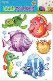 Wandsticker Fische 3D