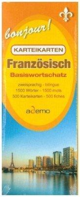 Karteikartenbox Basiswortschatz Französisch Niveau A1 - ademo GmbH